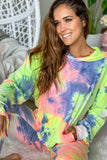 tie dye hoodie with front pocket