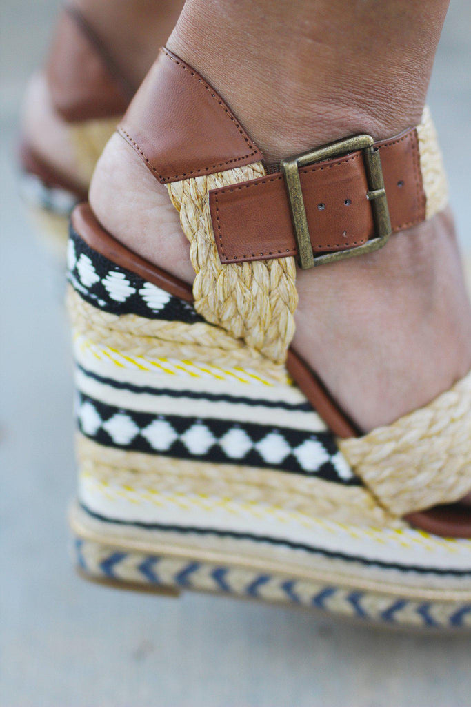 wedges with buckles