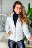 white cute jacket