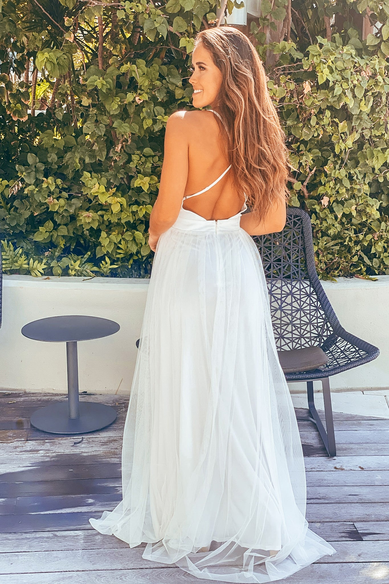 white formal maxi dress