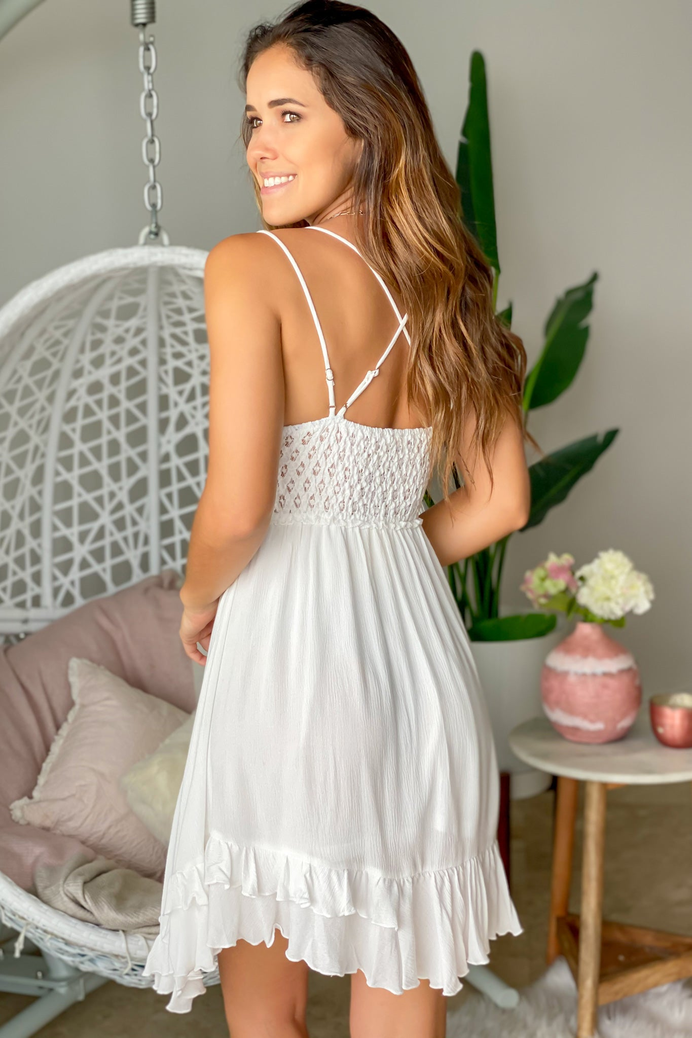 white party short dress