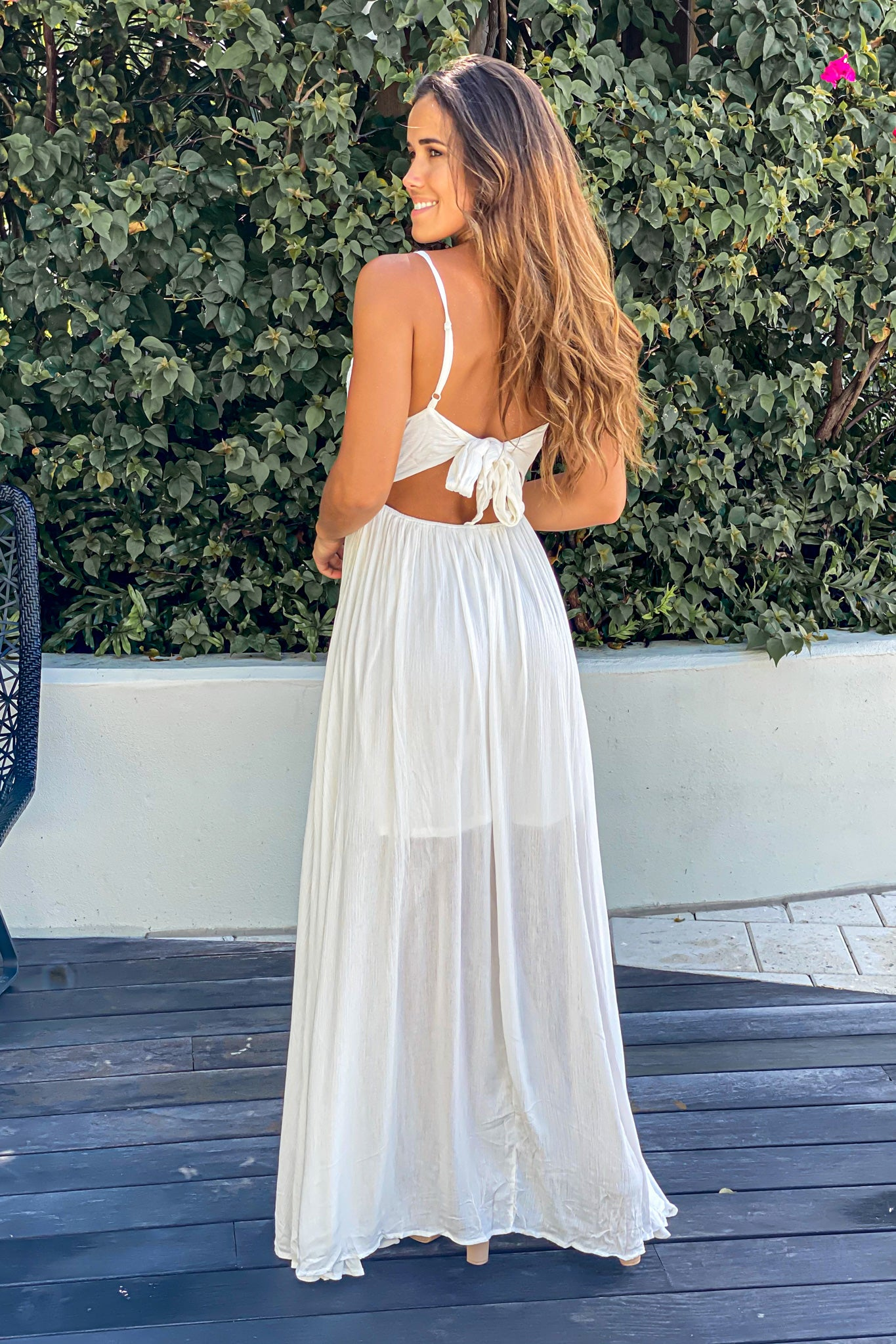white vacation maxi dress