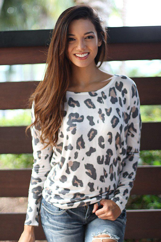 White Leopard Top