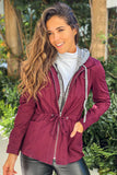 wine casual jacket