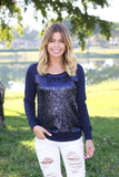navy party sweatshirt