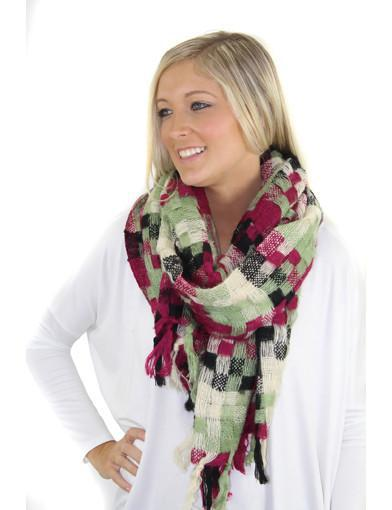 woven black scarf