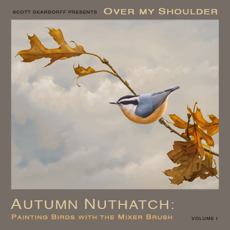Autumn Nuthatch:  Painting Birds with the Mixer Brush (download only)