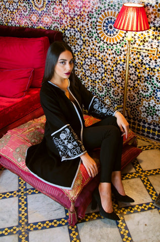 Moroccan Embroidered Coat by KaftanQueen