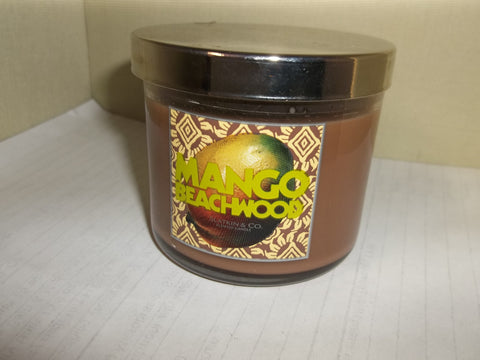Bath & Body Works Slatkin & Co. Candle 4 oz. - Mango Beachwood - Discontinued Beauty Products LLC
