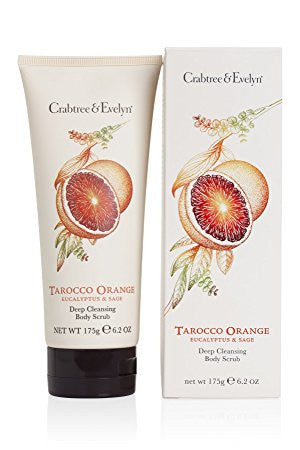 Crabtree & Evelyn Tarocco Orange, Eucalyptus & Sage Deep Cleansing Body Scrub 6.2 oz