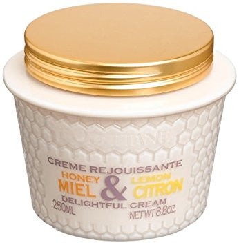 L'Occitane Honey & Lemon Delightful Cream  8.8 oz