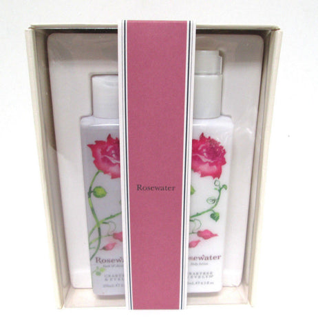 Crabtree & Evelyn Rosewater Gift Set, Bath & Shower Gel and Body Lotion 8.5 each - Discontinued Beauty Products LLC
