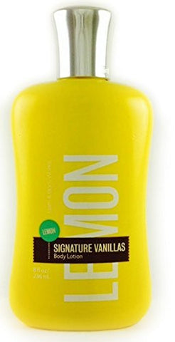 Bath & Body Works Signature Summer Vanillas Lemon Body Lotion 8 oz - Discontinued Beauty Products LLC