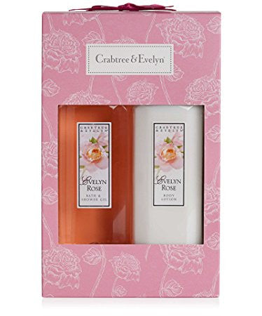 Crabtree & Evelyn Evelyn Rose Bath & Shower Gel & Body Lotion Duo - Discontinued Beauty Products LLC