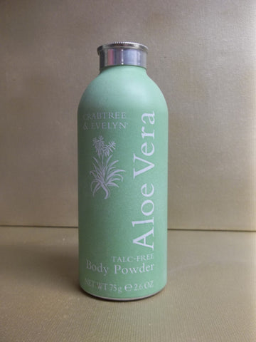 Crabtree & Evelyn Aloe Vera Talc-Free Body Powder 2.6 oz. - Discontinued Beauty Products LLC