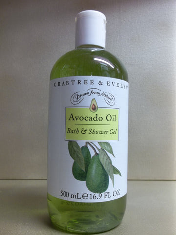 Crabtree & Evelyn Avocado Oil Bath & Shower Gel 16.9 oz. - Discontinued Beauty Products LLC