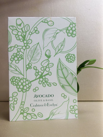 Crabtree & Evelyn Avocado Olive & Basil 2pc Gift Set, Bath & Shower Gel 8.5 oz, Body Lotion 8.5 oz. - Discontinued Beauty Products LLC