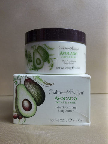 Crabtree & Evelyn Avocado Olive & Basil Skin Nourishing Body Butter 7.9 oz. - Discontinued Beauty Products LLC