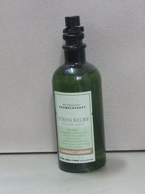 Bath & Body Works Aromatherapy Lemongrass Cardamom Stress Relief Pillow Mist 4 fl oz - Discontinued Beauty Products LLC