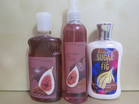 Bath & Body Works Brown Sugar & Fig Gift Set - Discontinued Beauty Products LLC