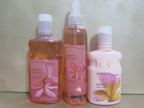 Bath & Body Works Plumeria Gift Set - Discontinued Beauty Products LLC