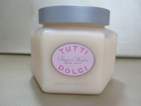 Bath & Body Works Tutti Dolci Sugar Wafer Body Buff 16.9 Oz - Discontinued Beauty Products LLC