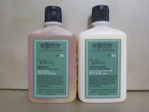 C.O. Bigelow Vetiver Shampoo & Conditioner Duo 10 oz. each - Discontinued Beauty Products LLC