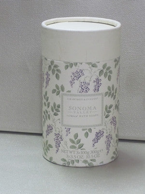 Crabtree & Evelyn Sonoma Valley Scented Bath Soaps 3x3.5oz