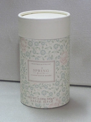 Crabtree & Evelyn Spring Rain Scented Bath Soaps 3x3.5o