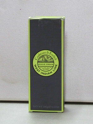 Crabtree & Evelyn West Indian Lime Shave Cream 3.4oz