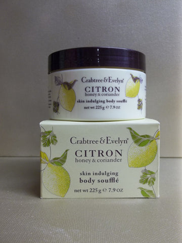 Crabtree & Evelyn Citron Honey & Coriander Skin Indulging Body Souffle 7.9 oz. - Discontinued Beauty Products LLC