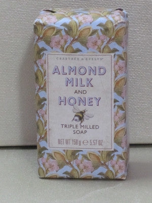 Crabtree & Evelyn Almond Milk & Honey Triple Milled Soap 5.57 oz - Discontinued Beauty Products LLC