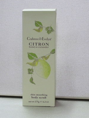 Crabtree & Evelyn Citron, Honey & Coriander Body Scrub 6.2 oz. - Discontinued Beauty Products LLC