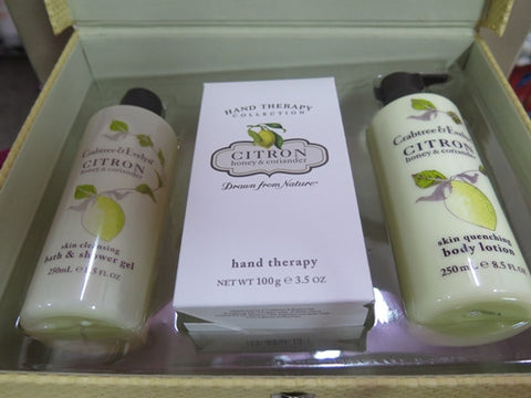 Crabtree & Evelyn Citron, Honey & Coriander Gift Set - Discontinued Beauty Products LLC