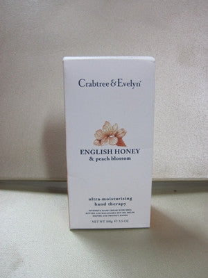 Crabtree & Evelyn English Honey & Peach Blossom Hand Therapy 3.5 oz - Discontinued Beauty Products LLC