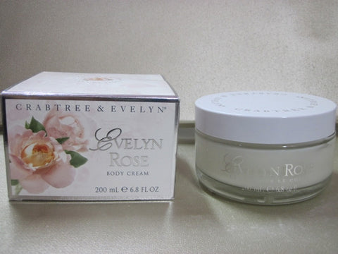 Crabtree & Evelyn Evelyn Rose Body Cream 6.8 oz - Discontinued Beauty Products LLC