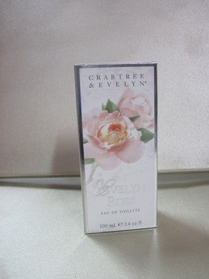 Crabtree & Evelyn Evelyn Rose Eau De Toilette 3.4 oz - Discontinued Beauty Products LLC