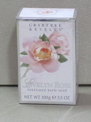Crabtree & Evelyn Evelyn Rose Soap 3.5 oz - Discontinued Beauty Products LLC