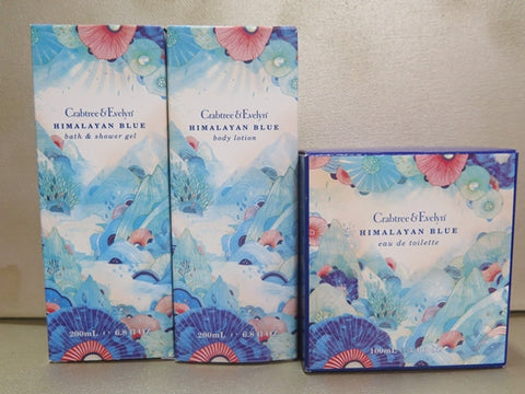 Crabtree & Evelyn Himalayan Blue Gift Set - Discontinued Beauty Products LLC