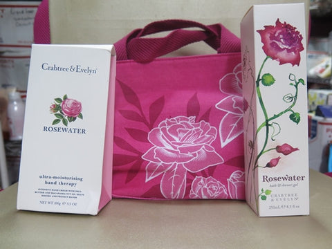 Crabtree & Evelyn Rosewater Gift Set with Bag
