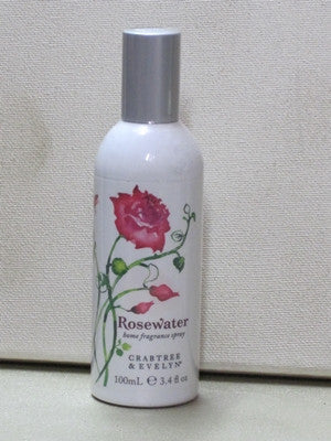 Crabtree & Evelyn Rosewater Home Fragrance Spray 3.4 oz