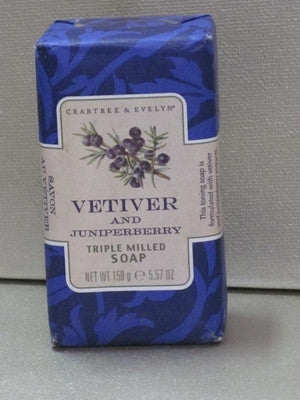 Crabtree & Evelyn Vetiver & Juniperberry Soap 5.57 oz