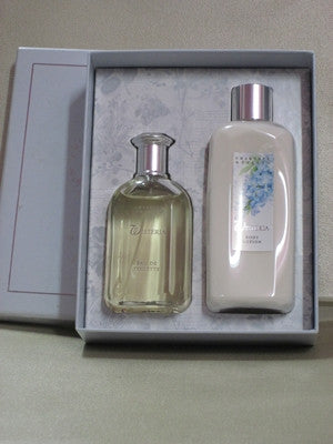 Crabtree & Evelyn Wisteria Body Lotion 8.5 oz & Wisteria Eau De Toilette 3.4 oz