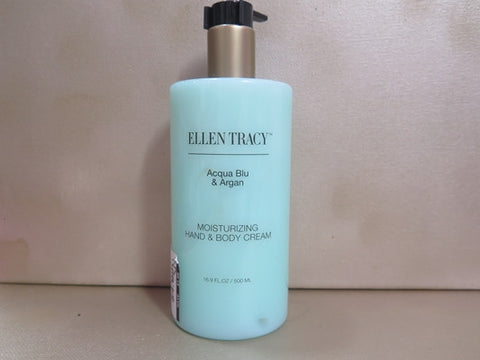 Ellen Tracy Acqua Blu & Argan Moisturizing Hand & Body Cream 16.9 oz. - Discontinued Beauty Products LLC