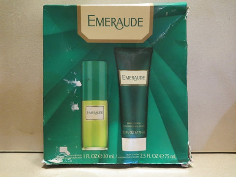 Emeraude Cologne Spray 1 oz. & Body Lotion 2.5 oz. Misc. - Discontinued Beauty Products LLC
