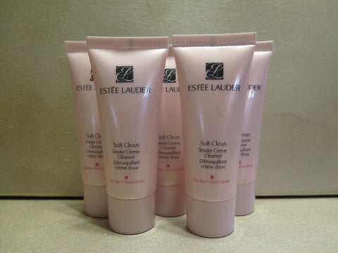 Estee Lauder Soft Clean Tender Cream Cleanser for Dry Skin 1 oz. each Set of 5 - Discontinued Beauty Products LLC
