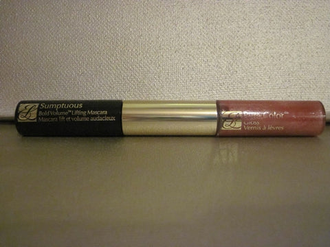 Estee Lauder Sumptuous Bold Volume Lifting Mascara 0.1 oz & Pure Color Lip Gloss 0.15 oz. - Discontinued Beauty Products LLC