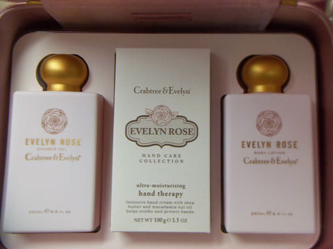 Crabtree & Evelyn Evelyn Rose Gift Box Gift Set - Discontinued Beauty Products LLC