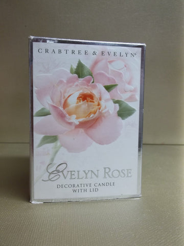 Crabtree & Evelyn Evelyn Rose Decorative Candle - Discontinued Beauty Products LLC