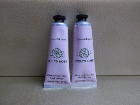 Crabtree & Evelyn Evelyn Rose Ultra Moisturising Hand Therapy 0.9oz. Lot of 2 - Discontinued Beauty Products LLC